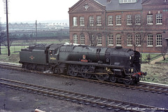 18/03/1964 - Eastleigh. (53A Models) Tags: train railway steam yeovil westcountry rebuilt southernrailway eastleigh 462 britishrailway 34004