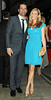 John Hamm and Jennifer Westfeldt at the screening of 'To Rome With Love at the Paris Theatre New York City