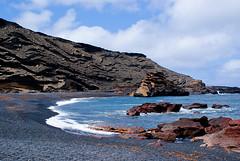 El Golfo - Lanzarote (Keith in Southampton) Tags: las sunset sun beach ball fire volcano islands spain horizon lanzarote playa canarias el steam craters blanca crater canary volcanoes volcanic canaries golfo espania