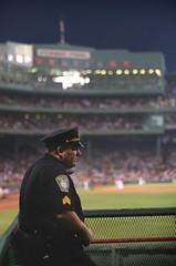 Boston PD at Fenway (Randomographer) Tags: man boston ma baseball stadium redsox police pd human cop fenway rslphotography rslphotographics