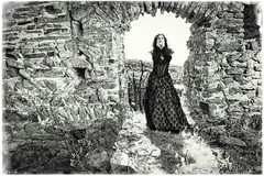 Broken Castle (Solomulala | mostly weekends ;-( !) Tags: bw black castle broken lost dress expression sinister gothic bn solomulala murielcdejong