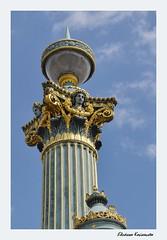 Place de la Concorde Paris (Eleanna Kounoupa) Tags: paris france decoration column placedelaconcorde columncapital  historicalcenter  hccity