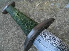 Three Moons Sword (LongshipArmoury) Tags: john steel weapon falcon sword roberts blade damascus maddox