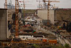 construction (larry_antwerp) Tags: haven port construction belgium crane lock wharf antwerp sluis kieldrecht deurganck kieldrechtsluis