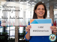 Nidialys, WEAmericas participant from Cuba (Bureau of Educational & Cultural Affairs) Tags: southamerica america ecuador women guatemala cuba bolivia western nicaragua elsalvador wha centralamerica entrepreneur hemispheres womenandgirls westernhemispheres weamericas
