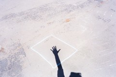 (it was what it was) Tags: shadow summer sun film 35mm chalk hand mju box olympus ii hi
