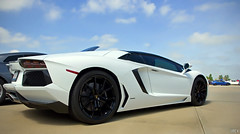 Aventador (evogz) Tags: door blue sky italy white chicago cars sports car clouds race vent illinois airport italian go fast automotive racing exotic half motor expensive races quick motorsports lamborghini runway rare wanna automobiles mile v12 luxurious lambo tcg ericv wgf wannagofast aventador thechicagogarage