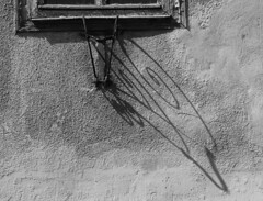 Flag holder (:Linda:) Tags: shadow bw wall germany town rust decay thuringia flagholder hildburghausen