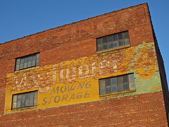 Mayflower Ghost Sign, Shelbyville, IN (Robby Virus) Tags: sign wall moving ghost indiana storage faded shelbyville mayflower
