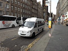 Rabbies Mercedes-Benz Sprinter, RO11 UMA (miledorcha) Tags: street trip mercedes benz scotland coach high edinburgh day conversion small group sightseeing trail tours ltd luxury lawnmarket blazers psv pcv sprinter daytripper evm rabbies minicoach 516cdi ro11uma