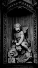Classical (The Arklight) Tags: blackandwhite bw sculpture white black london statue mono style cherub classical heri mkocha herimkocha thearklight arkight