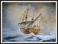 la nave Capitana, galeon  Jesus Maria de la  Limpia Concepcion vino a recuperar Valdivia en 1645.  Valdivia, desde entonces, qued con gobierno propio, dependiente directamente del virrey, con el rango de plaza fuerte hasta 1820 que fue tomada por la Arma (santiagonostalgico) Tags: chile santiago urbano antiguo patrimonio santiagonostalgico