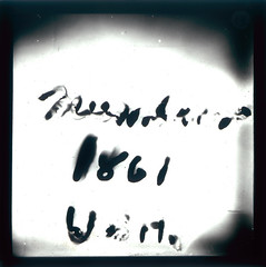 A Psychic Message (Tyne & Wear Archives & Museums) Tags: camera light blur photography weird words message spirit mark sheffield text ghost letters captured experiment fake eerie creepy demonstration odd wash unknown mysterious lecture paranormal psychic spiritphotography bizarre 1934 fraud forces genuine supernatural ectoplasm investigation 1861 decipher unclear examination blackandwhitephotograph collusion lanternslides phenomenia anewangle testconditions mrcpmaccarthy invitedcommittee 76clarkehouseroad