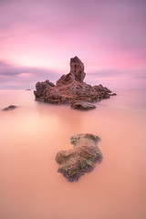 Roca del Paller (Toni_pb) Tags: tonipou clouds colors catalonia cielo cala coast costa contrast contraste nikon nature nubes nd10 neutraldensity nd nikkor142428 d810 landscape longexposure led lucroit largaexposicion lucroit165holder naturaleza paller rocadelpaller calonge waterscape water warm