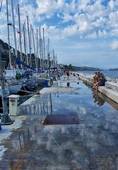 (Sittin' On) The Dock Of The Bay (ORIONSM) Tags: dock bay sittin marina ships boats people corfu benitses greece harbour sonu rx100mk3 infinitexposure