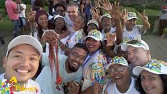 Voluntários da campanha em Salvador