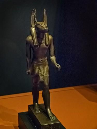 Bronze Figurine of Anubis Egypt 26th Dynasty - Ptolemaic Dynasty Late Period - Ptolemaic Period 664-32 BCE