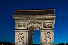 Arc de Triomphe at Sunset (mrlaugh) Tags: lights night arcdetriomphe vacation europe travel 2016 paris ledefrance france fr