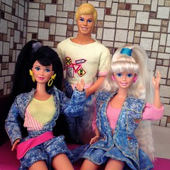 Barbie, Kira and Ken All American (MyMonsterHighWorld) Tags: all american barbie ken kira 1991 1990 mattel doll fashion