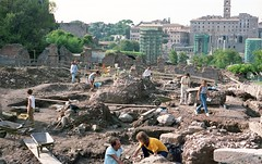 Archaeologists at the Roman Forum (Kevin Fenaughty) Tags: people italy holiday rome ruins outdoor digging forum lazio fororomano