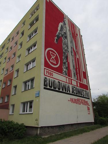 Jacek Wilebski - mural painting; at 5 Dywizjon 303 St.
