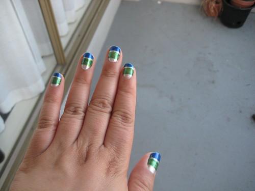 Canucks manicure 2