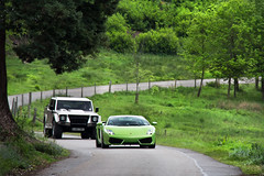 Cat & Mouse. (Alex Penfold) Tags: lambo lamborghini lm002 4x4 off roader grey biege green lp560 gallardo lp 560 verde ithaca chasing 52e jhw738l jhw 738l 52 e supercars super car cars auto mobile hyper sports sport sportscar hypercar hypercars supercar sportscars canon 60d eos alex penfold alexpenfold flickr spotting spotted spotter spot awesome cool flash exotic exotica photography photograph photo camera image picture 2011 numberplate
