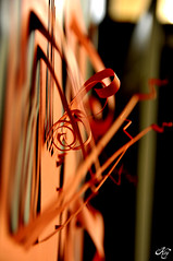 Curls (Kry*) Tags: red stilllife paper bokeh cut curls museo rosso carta mart rovereto workofart tagli riccioli artecontemporanea operadarte