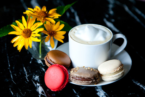 Macarons and my morning cappuccino