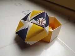 Hexagonal Box (Retsnimel) Tags: origami box kami washi modularorigami chiyogami tomokofuse finepixs4000