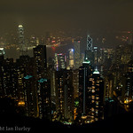 Hong Kong sky line from Victoria Peak, Hong Kong.