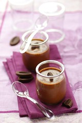 Butterscotch and chocolate pudding