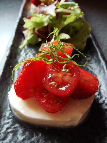 Mozzarella, Tomato and Strawberry Salad