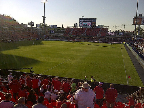 At BMO Field for some TFC action with @oshawaelvis