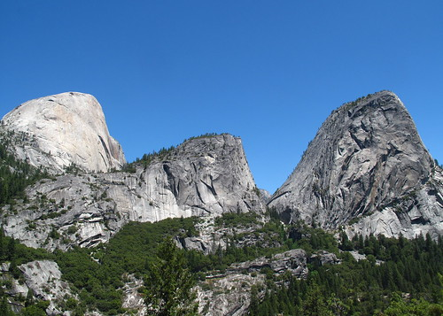 Half Dome, Mt Broderick and Liberty Cap