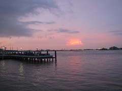 mississippi sunset (garden beth) Tags: louisiana neworleans ala rivers mississippiriver conferences americanlibraryassociation 2011june