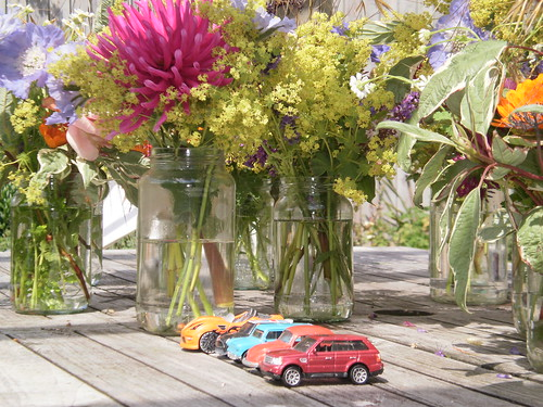 Cars and flowers!