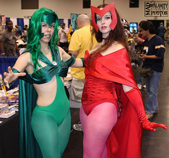 Polaris and Scarlet Witch: It's Kind of Like Christmas (Roxanna Meta) Tags: comics costume comic cosplay marvel polaris scarletwitch