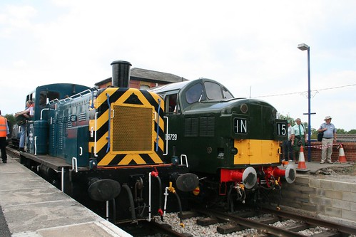 Two locomotives side by side