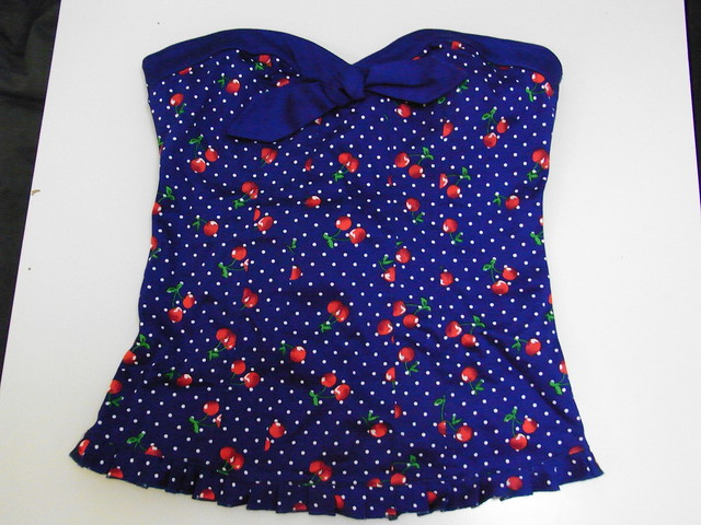 Top pin up azul