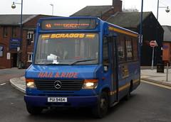 Scragg's 64 PUI9464 (X647WTN) Mercedes Benz O814 Vario Alexander ALX100 ex Arriva Northumbria 2647 (chrisbell50000) Tags: blue bus ex buses station mercedes benz mini 64 deck trent northumbria single former alexander midi 31 stoke minibus decker arriva hanley vario 2647 midibus scraggs o814 alx100 x647wtn hailride pui9464 chrisbellphotocom
