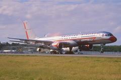 47aw - American Airlines Boeing 757-223; N679AN@SXM;02.02.1999 (Aero Icarus) Tags: plane saintmartin aircraft americanairlines flugzeug takeoff avion sintmaarten slidescan boeing757 frenchwestindies twinjet retrojet n679an
