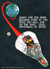 Shoot For The Moon... (Darren Cullen) Tags: illustration death fridge space nasa magnet crosssection demotivational