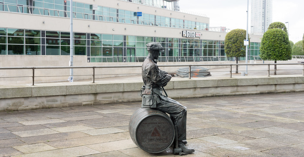 The Ulster Brewer or Barrel Man 1997 By Ross Wilson