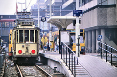 Once upon a time - The Netherlands - The interurban affair (railasia) Tags: holland provinceutrecht utrecht centralstation sun ema htm motorcar heritage specialrun infra tramstop eighties