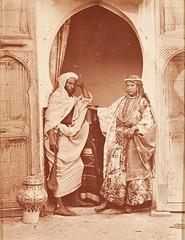 Moroccan Couple, Tangier, 1870 (Benbouzid) Tags:   men man woman george washington wilson tangier tanger