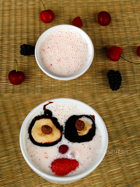 decorazione divertente con la frutta per bambini