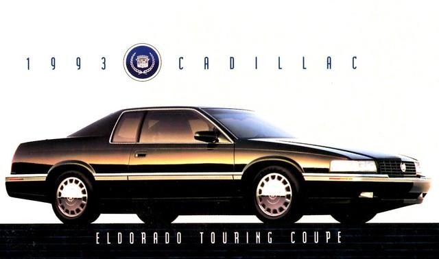 postcard cadillac eldorado 1993 coupe touring