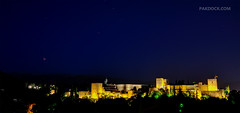 Lunar Eclipse over Alhambra (@PAkDocK / www.pakdock.com) Tags: city trip travel blue light sunset red sea summer sky panorama espaa music moon castle art tourism luz sol window water yellow night landscape geotagged outdoors atardecer photography eclipse town dock andaluca spain agua nikon scenery day mood cityscape spectrum fort south magic country paisaje running tourist andalucia hour alhambra granada moors gps andalusia moor paysage landschaft turismo lunar breathtaking flamenco anochecer lunareclipse turistas pak albaicin alczar albaycin moros d90 albayzin morisco morisque pakdock