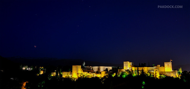 Lunar Eclipse over Alhambra